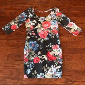 Kirra Floral Bodycon Mini Dress